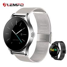 K88H металла Bluetooth Smart часы Поддержка монитор сердечного ритма Шагомер smartwatch часы для Android IOS Телефон