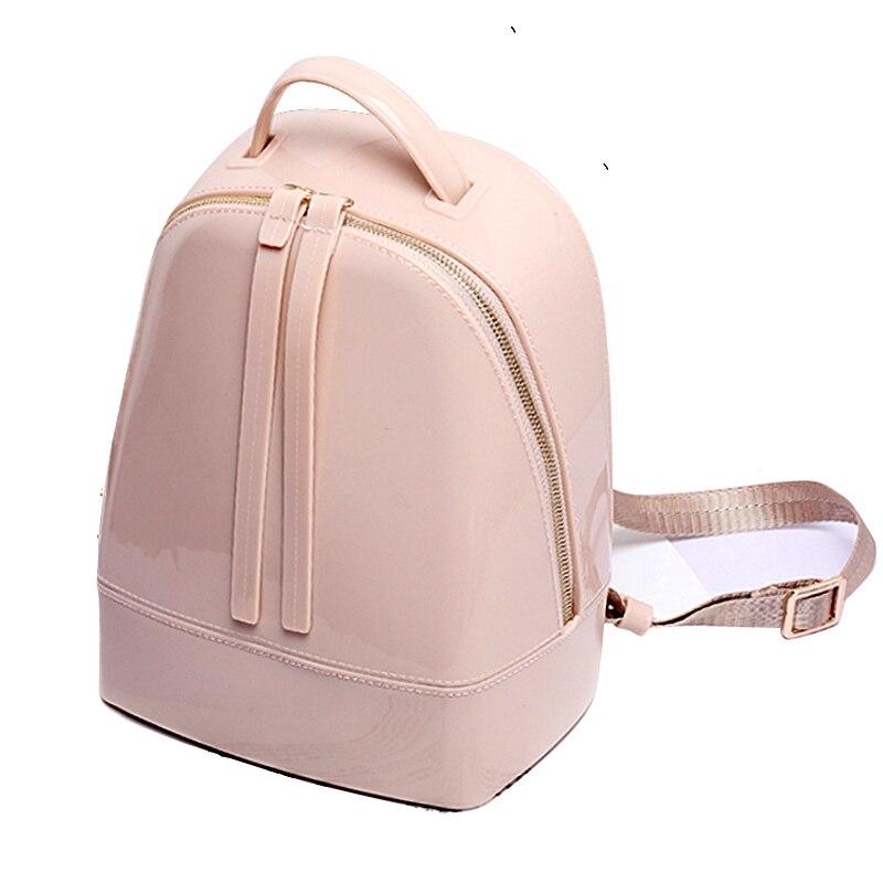 SUNNY BEACH brand luxury jelly bag designer women packback candy color Backpacks PVC waterproof ladies Backpack