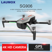 LAUMOX SG906 Drone GPS 5G WIFI FPV With 4K HD Camera Brushless Selfie Foldable Drones RC Quadcopter RTF VS XS812 XS809HW F11