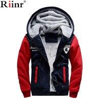 Riinr 2017 New Fashion Fleece Hoodies Men Winter Casual Men S Jackets Patchwork Men Coats Plus