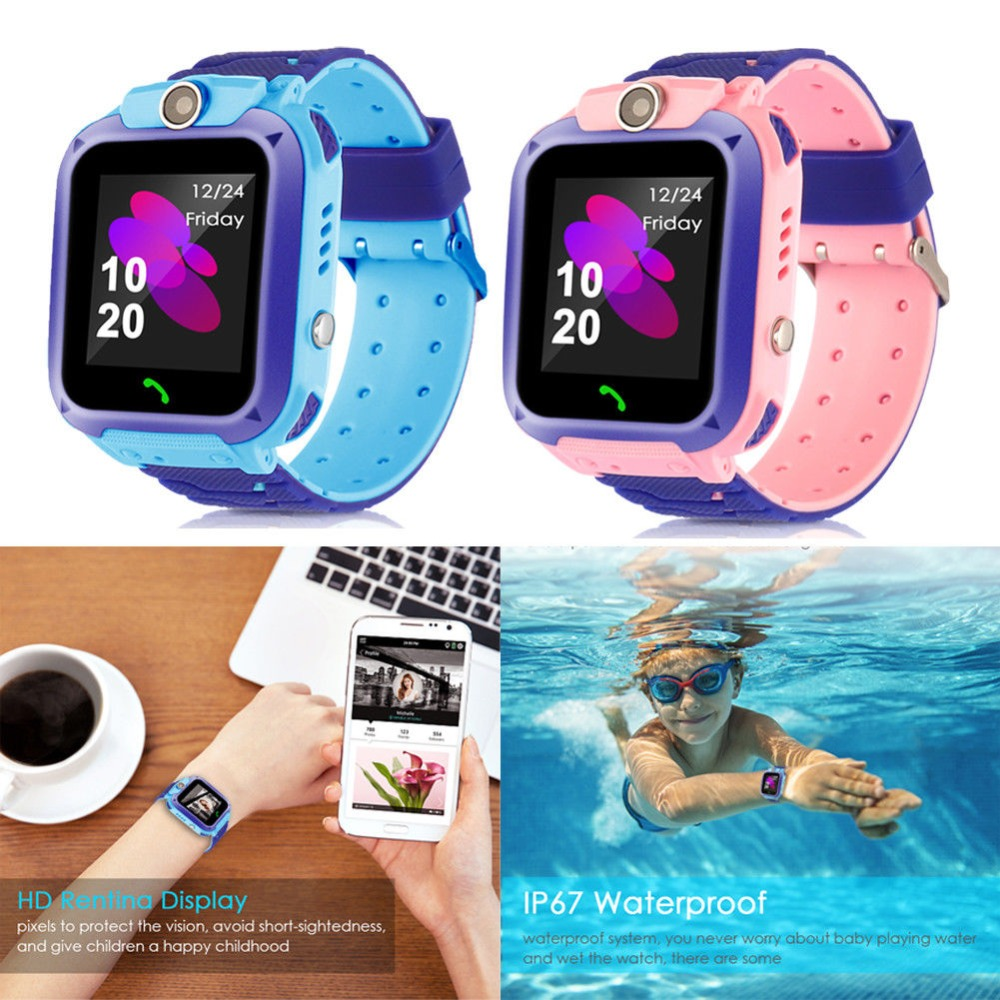 Smart Watch With SMART CLOCK GPS Tracker Bluetooth Anti Lost Monitor SOS IP67 Phone Smartwatch with Box Kids Gift