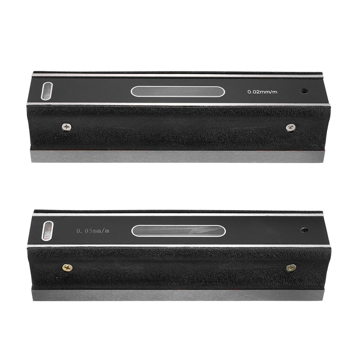 ZEAST 200mm précision 0.02mm/0.05mm niveau de précision barre de Graduation mesure niveleur flacons à bulles niveau de barre horizontale - 2