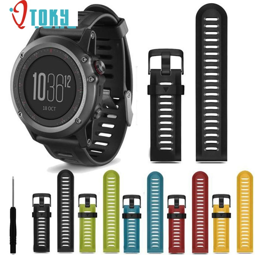 Watch Bands For Garmin Fenix 3 Silicone Strap Replacement Watch Band Tools New Fashion Straps For Gift ot19 nov27 replacement silicone watch bands strap for garmin forerunner 235 630 230 gps watch