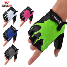цена на Cycling Gloves MTB Road Gloves Mountain Bike Half Finger Gloves Men Summer Bicycle GEL Gym Fitness Anti-slip Sports Gloves
