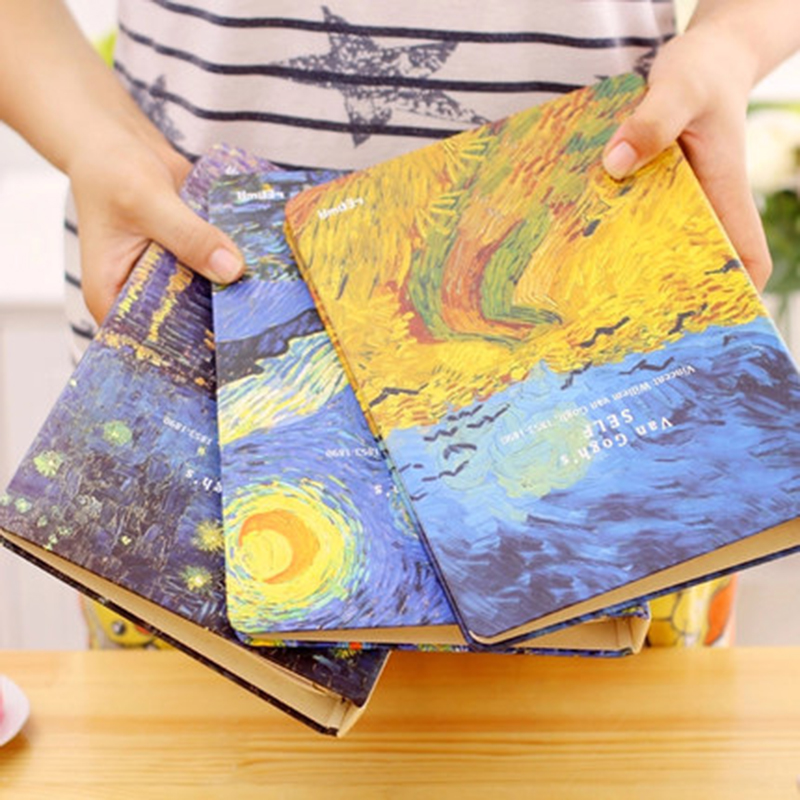 Planner 2018 Van Gogh 26-ring Loose-leaf Binder Thicken CY Retro A5/B5 Diary Notebook Stationery
