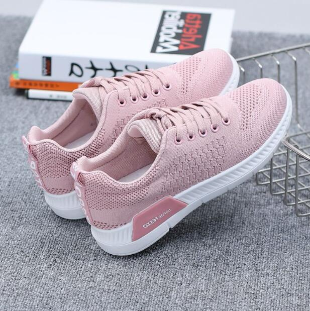 2018 New Autumn Breathable Mesh Women Casual Shoes Vulcanize Female Fashion Sneakers Lace Up Soft High Leisure Zapatos De Mujer 1