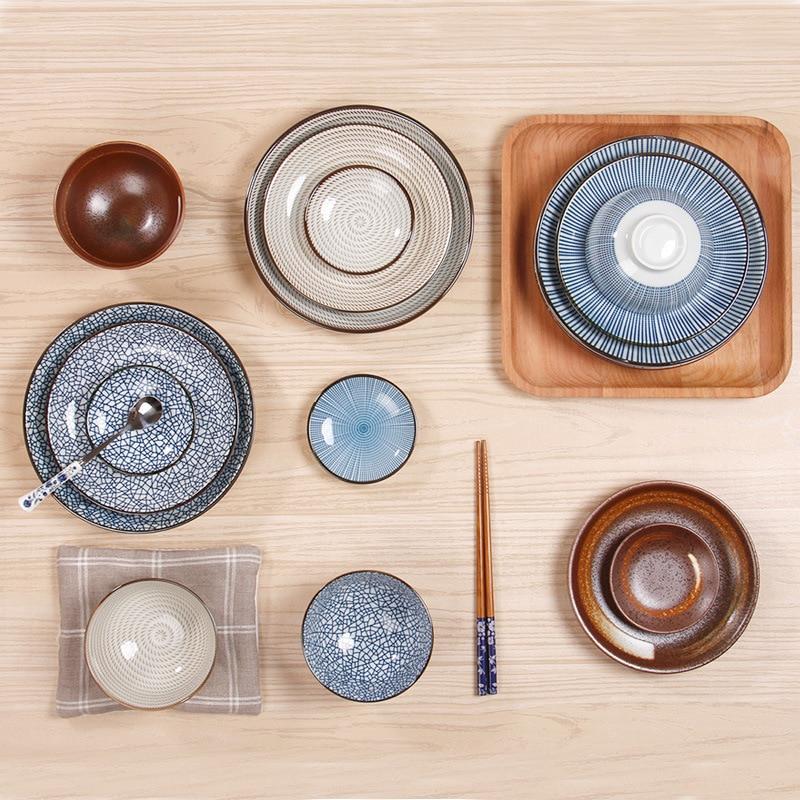 Çin üslubunda mavi çini keramika yuvarlaq plitələr Çini xəmir - Mətbəx, yemək otağı və barı - Fotoqrafiya 4