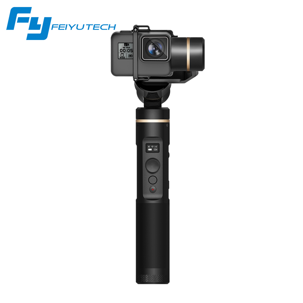 Feiyutech G6 Feiyu Handheld 3-Axis Gimbal for Action Camera GoPro HERO Yi cam 4K AEE with Wifi + Blue Tooth OLED Screen wewow sport x1 handheld gimbal stabilizer 1 axis for gopro hreo 3 3 4 smartphone iphone 7 plus yi 4k sjcam aee action camera