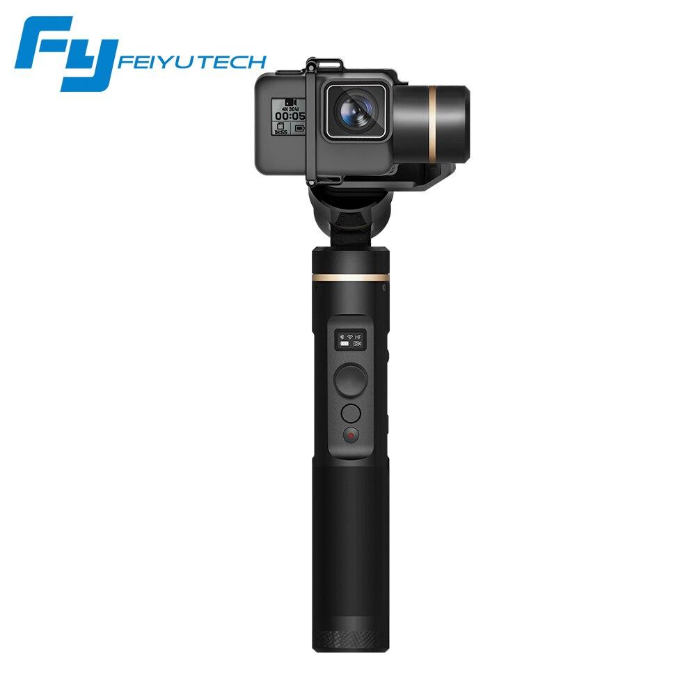 Feiyutech G6 Feiyu cardan 3 axes portable pour caméra d'action GoPro HERO Yi cam 4 K AEE avec Wifi + écran OLED bluetooth