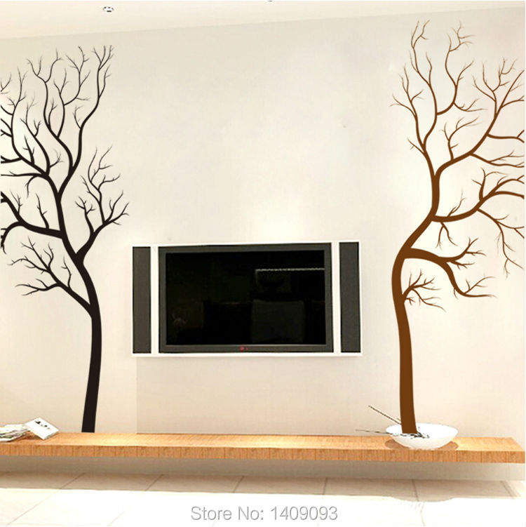 Tree Wall Sticker Home Decor Living Room Vinyl Stickers Decals Creative Mural Art Black Brown On The In From Garden