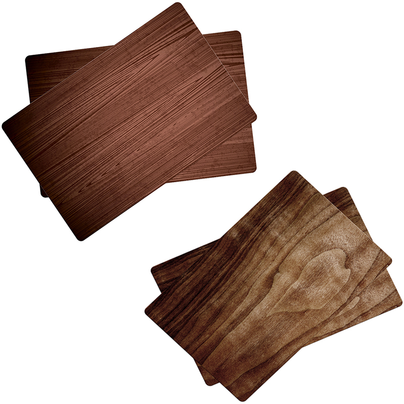 New Arrival Dining Tables Place Mats Wood Grain Creative Personality Eat Tableware Utensil Restaurant Decor Catering Accessories