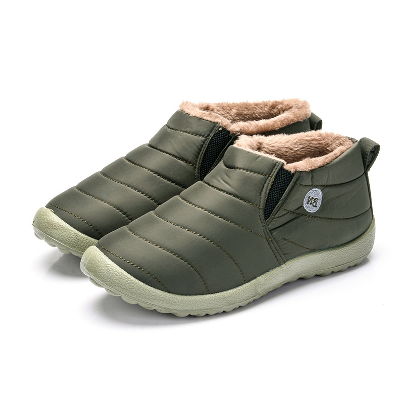 Image 3 - Women Snow Boots Shoes Fashion Keeping Warm Waterproof Slip on Lightweight Women Ankle Boots Winter Flat 35 49 Plus Size Shoe-in Ankle Boots from Shoes