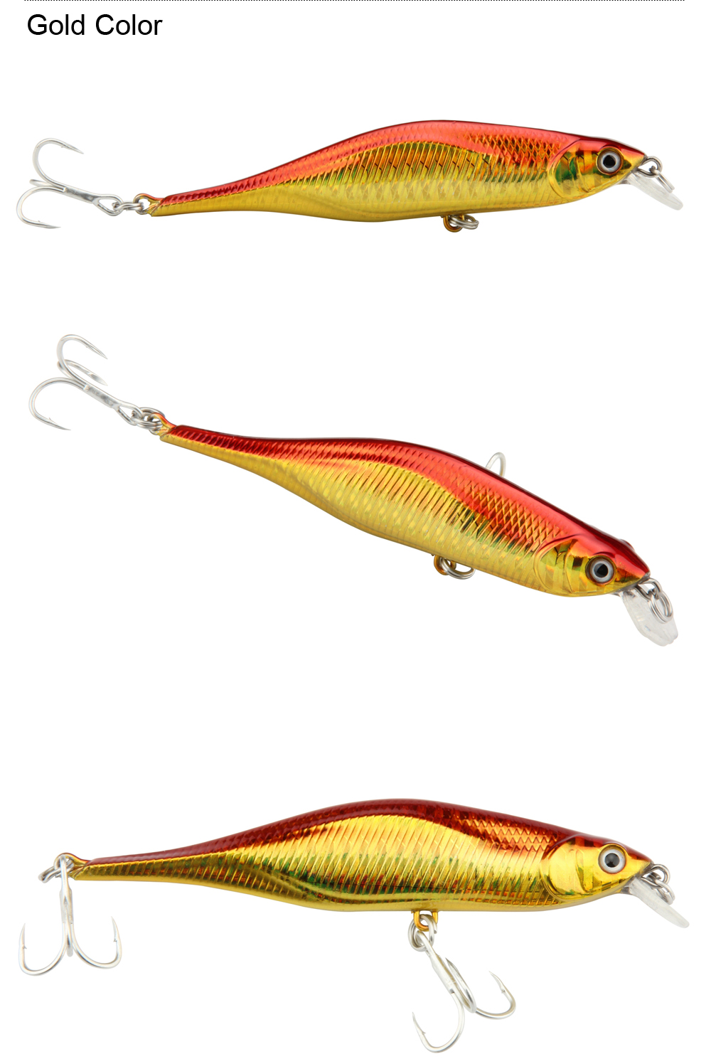 5pcsLot 11cm11g Mixed Colors ABS Minnow Fishing Lure Swimbait Crankbait Rigged With 2pcs High Carbon Steel Sharp Treble Hooks (7)