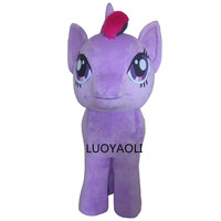 Professional Legs Stand Up Little Pony Mascot Costume Outfits Cartoon Character Fancy Dress Mascots Costumes For Adults