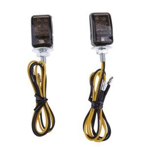 Image 4 - 1 paar Motorrad Blinker Lichter Dreieck LED Sequential Blinker Indikatoren Universal Für 6mm Gewinde Motorrad Modell