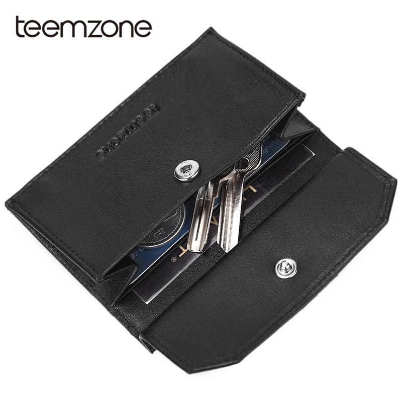 Teemzone Credit Card Holder Business Card Holder Rfid Men ID Cards Holders Key/Coin Bag Men Casual Fashion Wallet Card Case K375 fashion credit card holder men women travel cards wallet pu leather buckle business id card holders 99 bs88