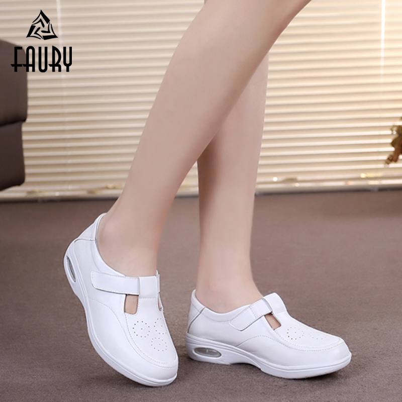 Nurse Doctor White Cushion Shoes Breathable Pregnant Women Sandals Summer Drugshop Beauty Salon Hospital Medical Work Shoes