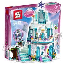 314 pcs SY373 Mousseux de Série De Princesse Elsa Glace Château Bâtiment Brique Blocs Snow queen Elsa Anna Jouets Compatible Avec Lego