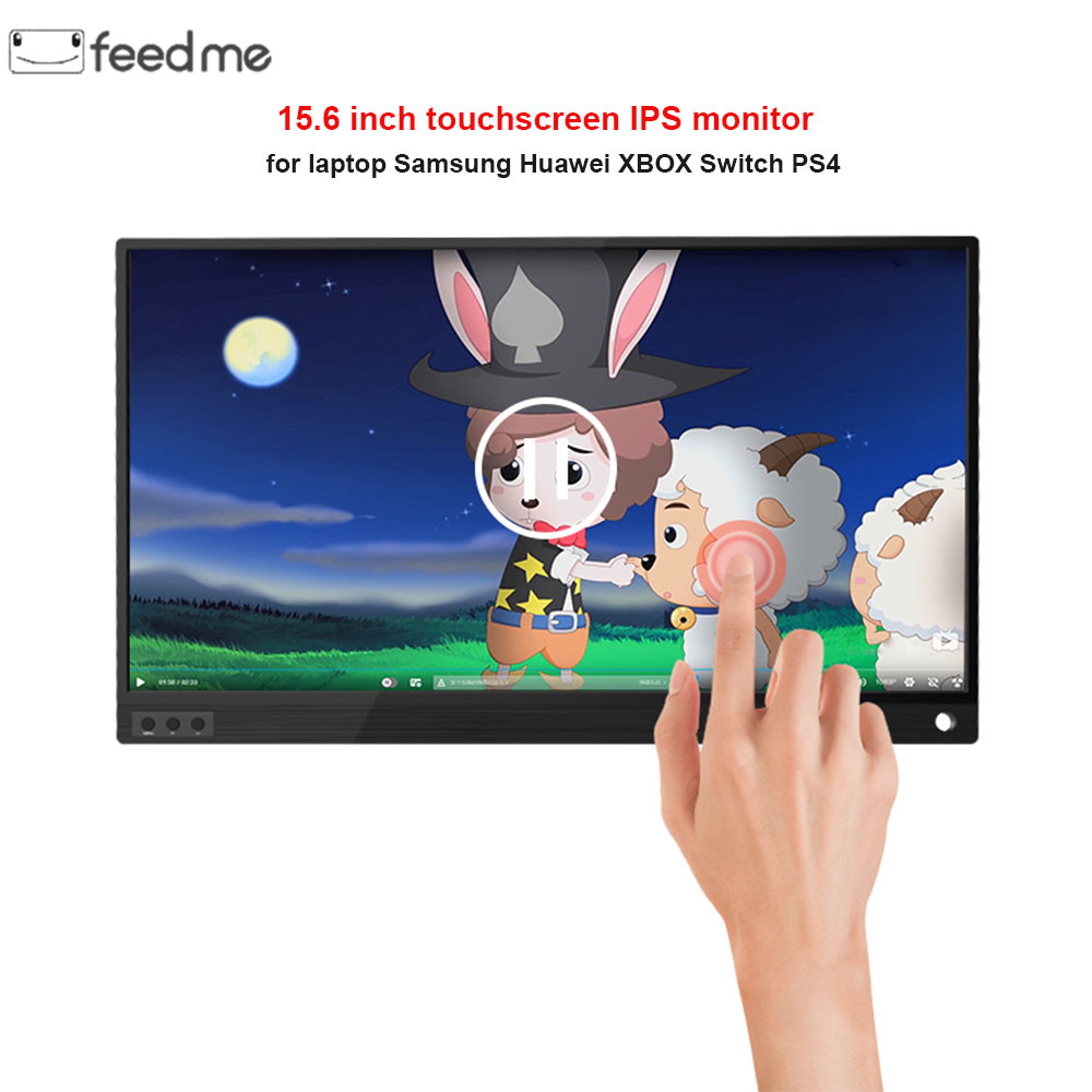 15.6 inch Gaming LCD Monitor Touch Screen Portable 4K 1080P IPS HD USB Type C for laptop Samsung phone XBOX Switch PS4-in LCD Monitors from Computer & Office