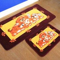 Cartoon Soft Flannel Dog Runner Carpet Rug Shiba Floor Mat Plush Doormat Bedroom Bay Window