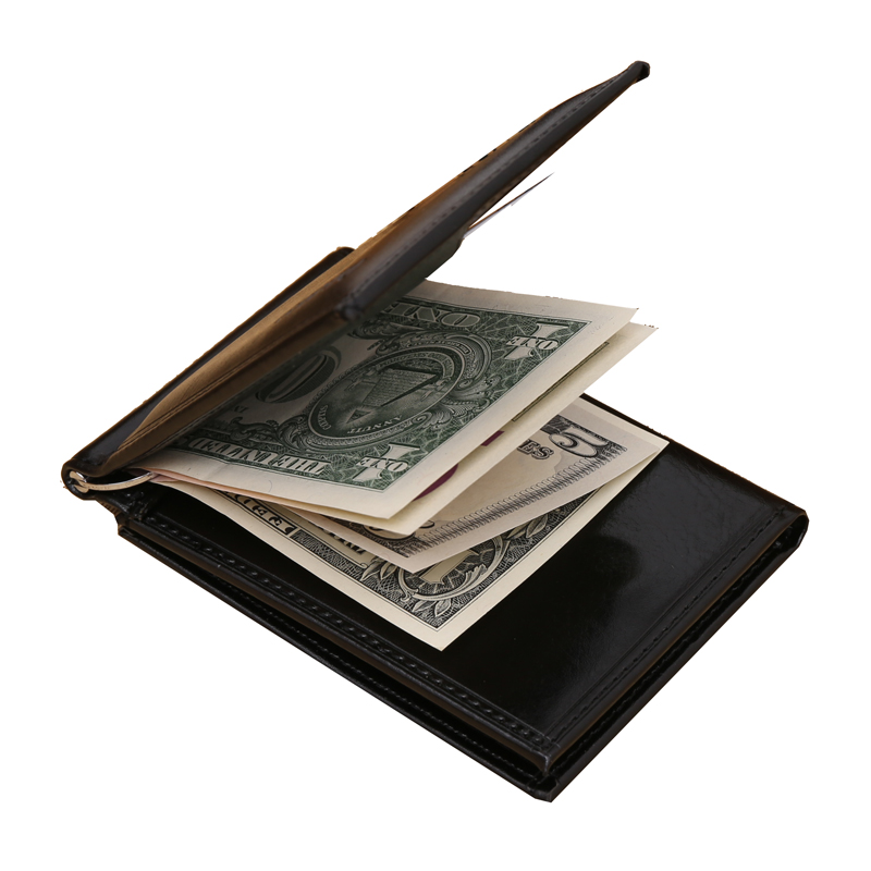 Easy Carry Mutifunctional Men Wallet PU Leather Billfold Clamp Luxury Brand Male Wallets 2 Hold Purse