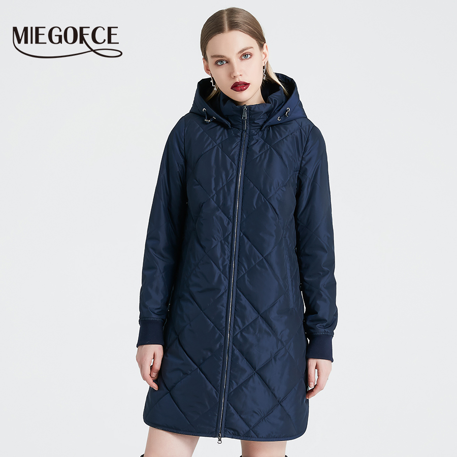 f5d8486bd2f MIEGOFCE 2019 Spring Autumn Women's Jacket Simple Quilted Women's Coat  Fashion Windproof Warm Parka New Design Hot Sale Product-in Parkas from  Women's ...