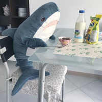 100cm Hot Sale Big Size Funny Soft Bite Shark Plush Toy Stuffed Animal Sleeping Pillow Pillow Appease Cushion Gift For Children