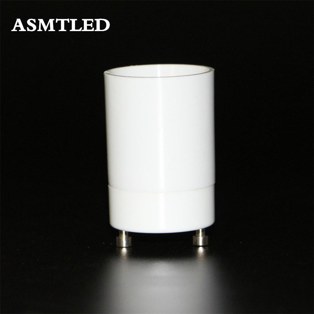 asmtled gu24 to e26 e27 adapter led light bulb lamp holder adapter socket converter white gu24 - Gu24 Led