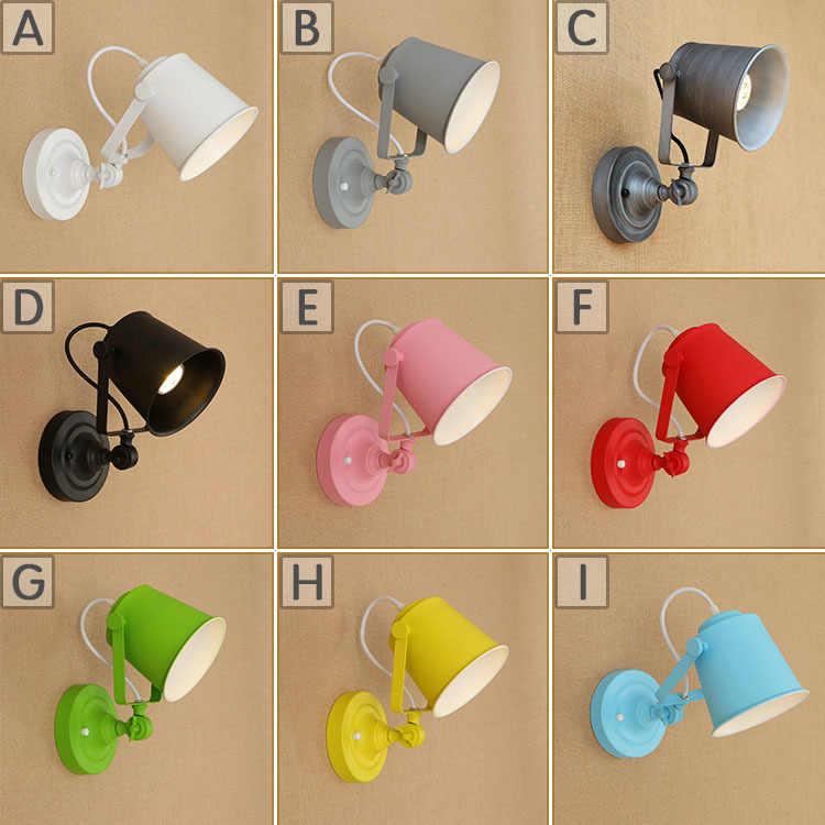 11 цветов светодиодные Настенные светильники для помещений Ретро Лофт E27 лампочка лампа настенная лампа Спальня с крышкой вверх/вниз промышленные настенные светильники ZBD0012