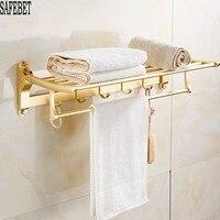 Hot Sale Rose Gold Bathroom Shelf Hooks On The Wall Stainless Steel Towel Rails Organizer Hangers