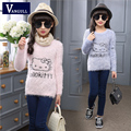 2016 autumn and winter hot girl cute cartoon cat wool sweater sweater printing shirt 3-11