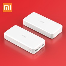 Original Xiaomi Redmi Power Bank 20000mAh 2C Portable Charger Support QC3.0 Dual USB Mi External xiaomi 9 Battery Bank Phones