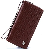 New Arrival Men Wallets Famous Brand Long Clutch Wallet Hand Bag With Flip Up ID Purse