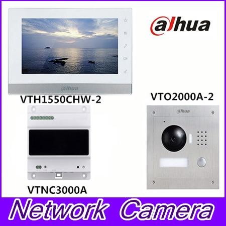 Original Brand intercom kit VTK-VTO2000A-2-VTH1550CHW-2 + VTNC3000A Kit door phone system the illusionists 2 0 2018 01 25t20 00