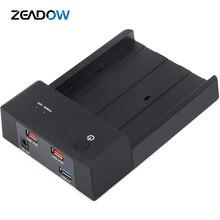 2,5 «/3,5» USB 3,0 на SATA III внешняя док-станция для жесткого диска 3,5 дюймов корпус жесткого диска UASP с 2 данными/зарядным usb-портом