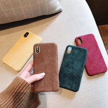 Fundas de teléfono difusas cálidas de invierno a la moda para iphone 6 S carcasa blanda para iphone 6 7 8 Plus X XR XS funda de felpa MAX Cloth