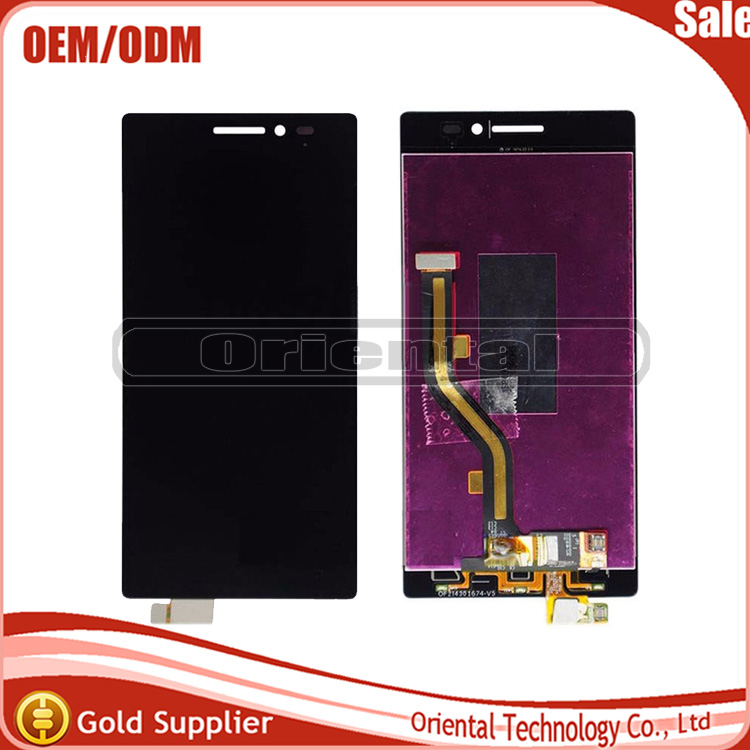 Black Tested Well For Lenovo Vibe X2 LCD Display Touch Screen Assembly X2-TO X2-CU Replacement Parts free shipping vibe x2 lcd display touch screen panel with frame digitizer accessories for lenovo vibe x2 smartphone white free shipping track
