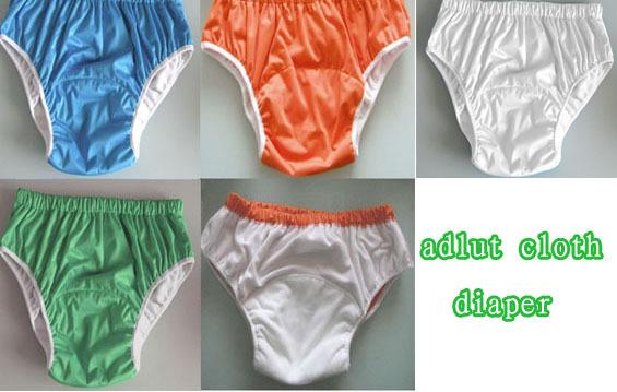 4 cores chioce as crianças Mais Velhas Para Adultos à prova d' água tampa fralda de pano Fralda fraldas fraldas para adultos calças XS S M L