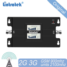 Envío Gratis Amplificador de señal móvil 3G señal de 900 de 2100 GSM amplificador UMTS repetidor de banda Dual GSM900 WCDMA 3G de 2G 15