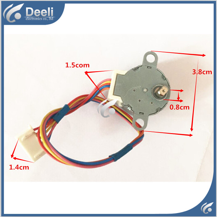 98% new good working for Air conditioner control board motor 28BYJ48 MP24GA DC 5 Wire Stepper Motor good working for air conditioner control board motor mp24ga5 12v motor 95