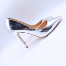 Free shipping fashion women Pumps lady Silver patent leather Pointy toe high heels shoes size33-43 12cm 10cm 8cm Stiletto heel free shipping fashion women pumps sexy lady black patent leather pointy toe high heels shoes size33 43 12cm 10cm 8cm party shoes