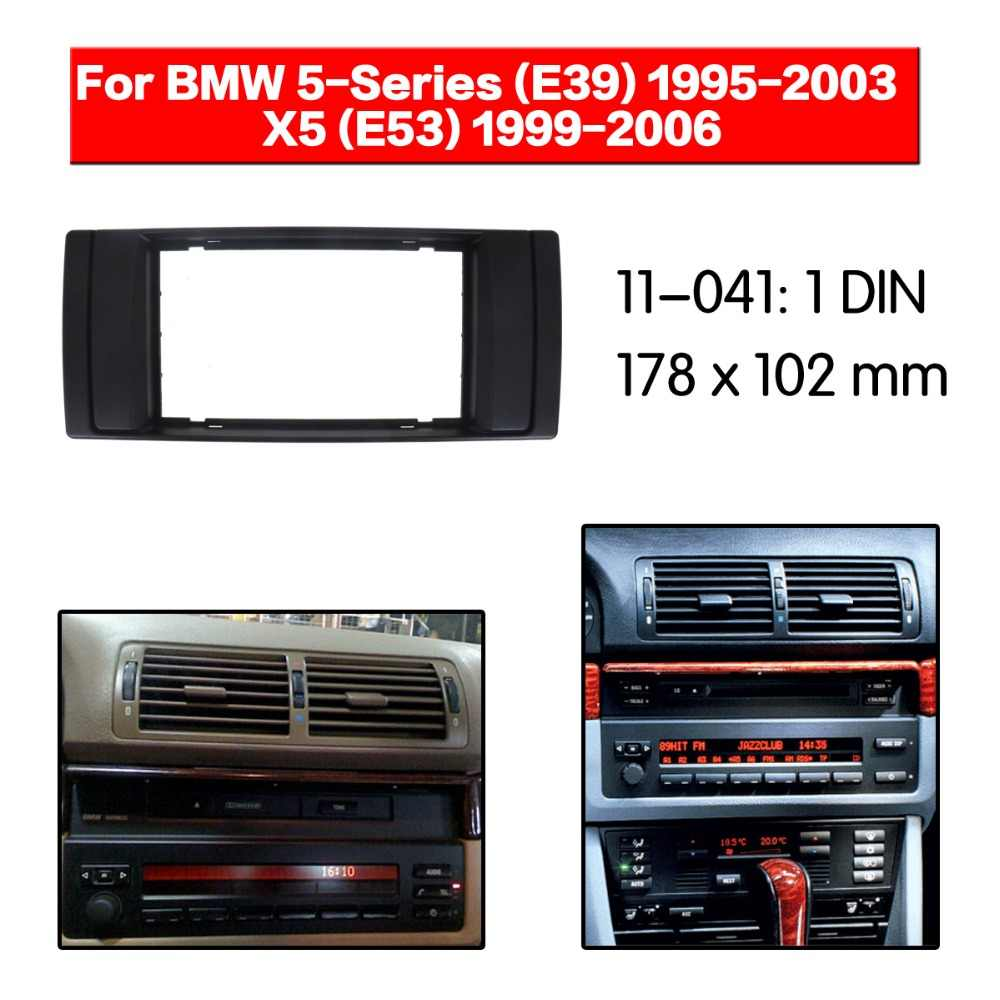 Car Radio Fascia multimedia Frame Kit For BMW 5-Series (E39) 1995-2003 Facia Panel Trim Dash CD Double Din Audio Bezel dash