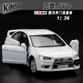 High simulation model,1:36 Alloy pull back toy cars,Mitsubishi EVO wing God,free shipping
