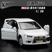 High simulation model 1 36 Alloy pull back toy cars Mitsubishi EVO wing God free shipping