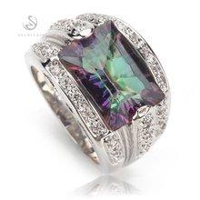 Обручальные кольца fleure esme для мужчин и женщин с радужным