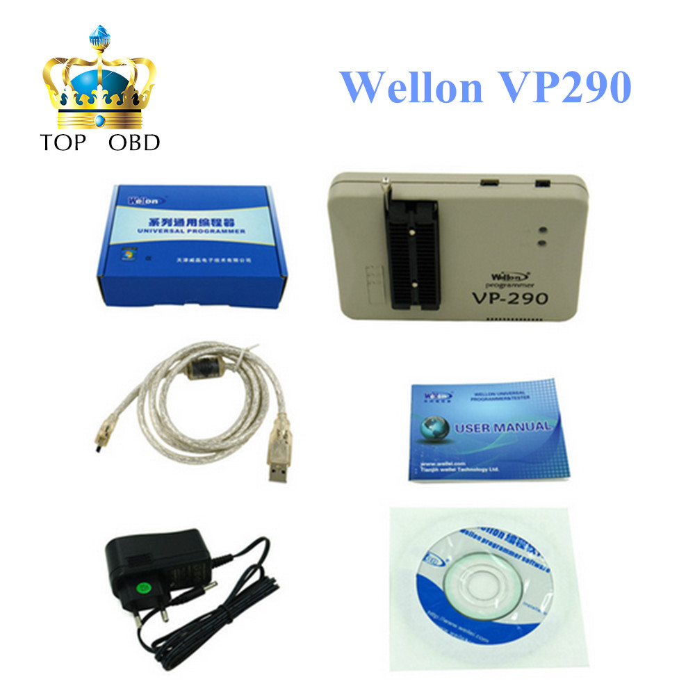 Wellon Programmer VP-290 VP290 ECU Chip Tunning VP-290 VP290 Programmer Wellon VP290 Support Multi-language