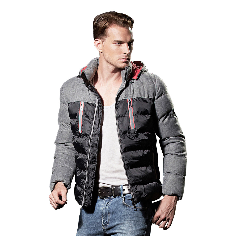 Winter Mens Clothing Nylon Windproof Down Jacket Men Hooded Down Coat Parkas Good Quality Cotton Padded Slim fit Jackets 080801