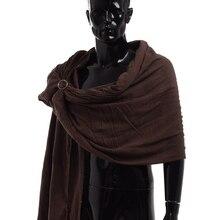 Мужчины мантия Средневековый шарф Коричневый обруч Плащ Примитивный наплечный клык