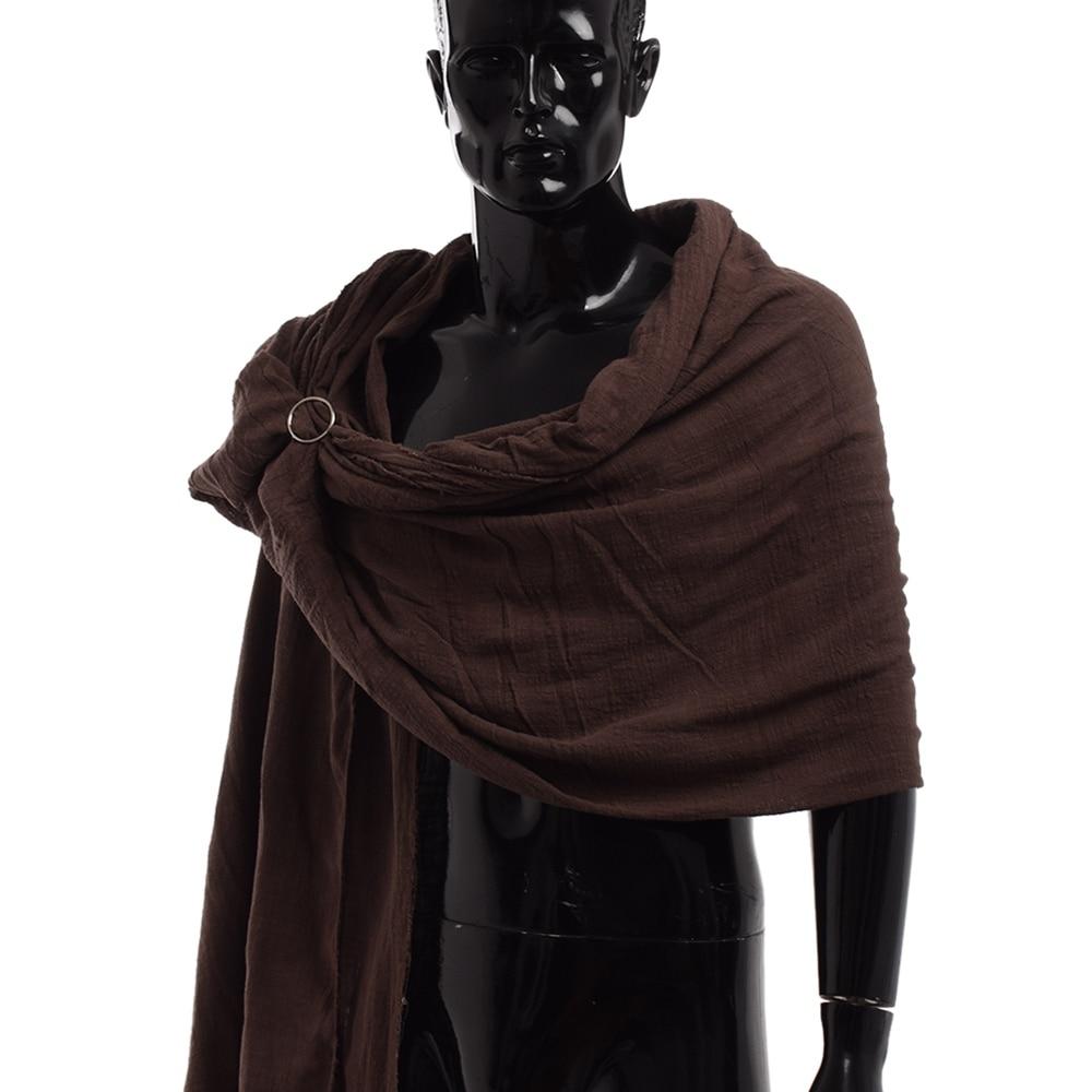 Men Medieval Scarf Brown Black Blue Wrap Cloak Primitive Hood Neckerchief Sjaal Middle Ages Mittelalter Shoulder Cowl(China)