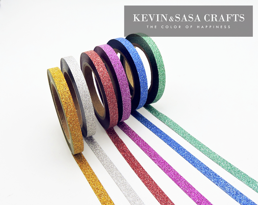 6Pcs/Sell Washi Tape Glitter Color Japanese Stationery 0.5*6.5meter Kawaii Paper Scrapbooking School Tools Decorative Tapes Mask 15 30mmx7m nordic series label decorative washi tape diary scrapbook paper tapes kawaii girl diy school office stationery